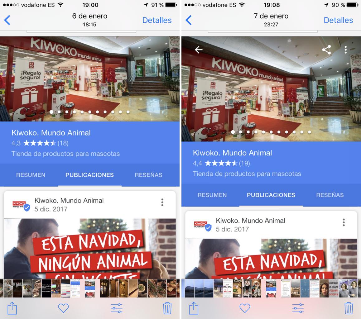 publicaciones google my business kiwoko
