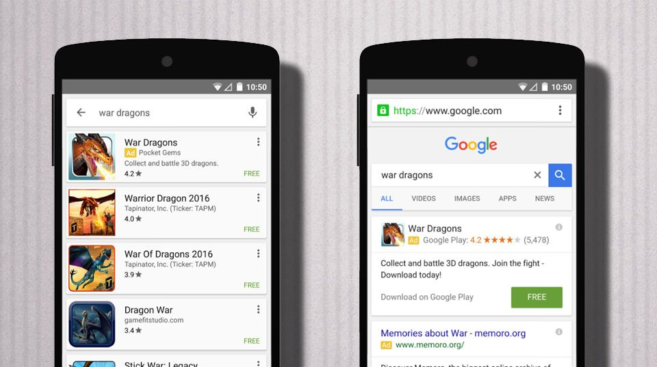 uac campaña aplicaciones google