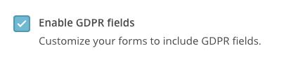 activar campos gdpr mailchimp