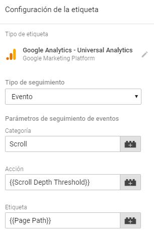 Como medir el scroll en Google Tag Manager