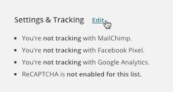 configuracion y seguimiento mailchimp
