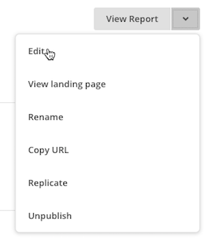 editar menu paginas landing