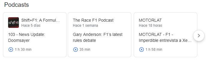 Podcasts sobre temática de competición