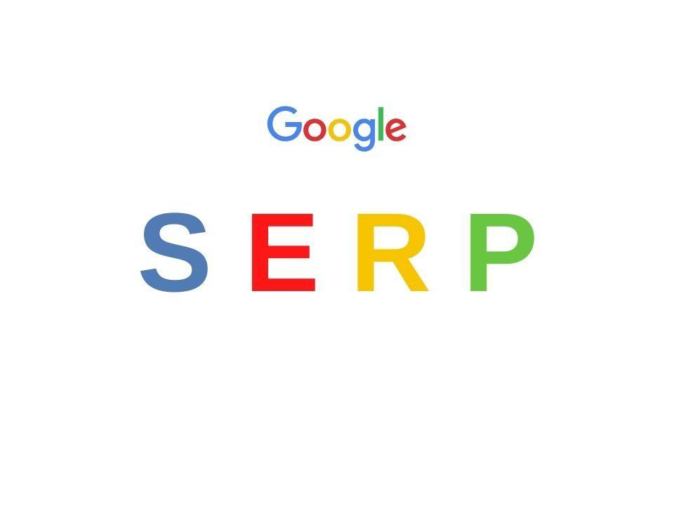 Siglas SERP y logotipo de Google