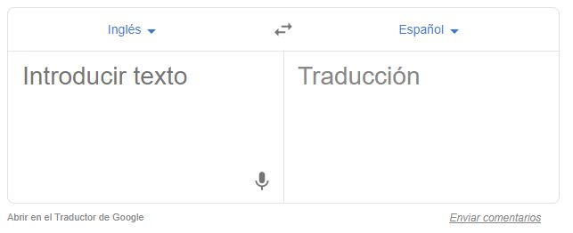 Representación del traductor de Google