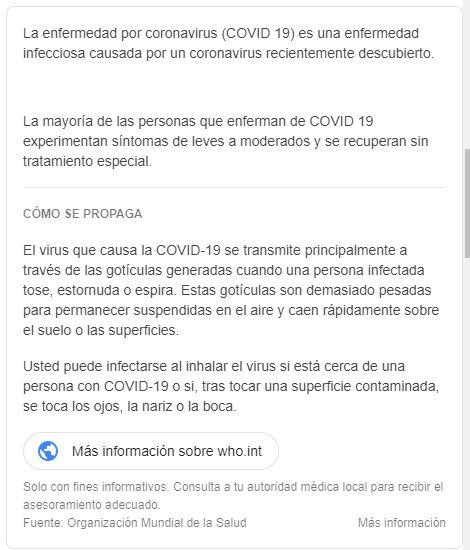 Información adicional COVID-19